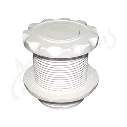 AIR BUTTON: #10 POWER TOUCH, SCALLOP, WHITE