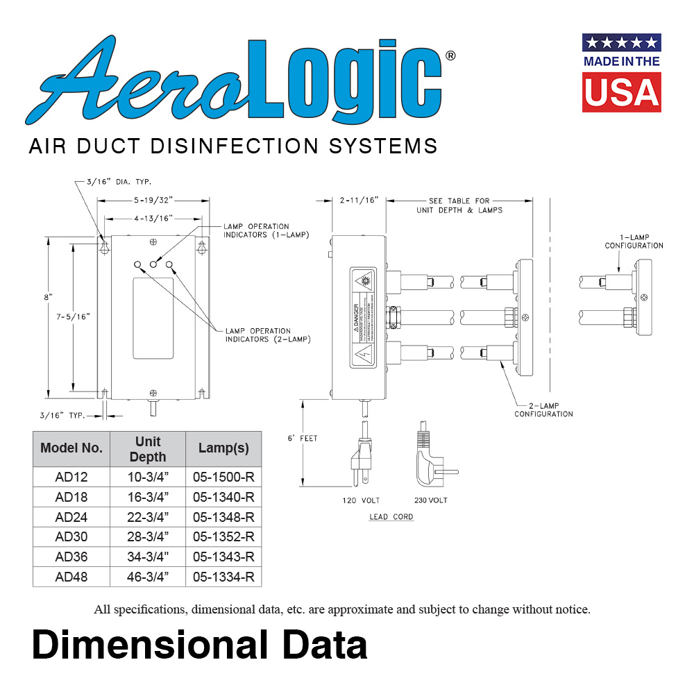 American Ultraviolet Company Wiring Diagrams Just Another Uv Lamp Diagram Aerologic Air Duct Disinfection Units One Standard Rh Buyultraviolet Com