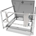 "48"" x 48"" Roof Hatch Safety Railing with Gate"