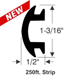 "1-3/16"" x 1/2"" Rub Rail Insert Kit - 250 ft."