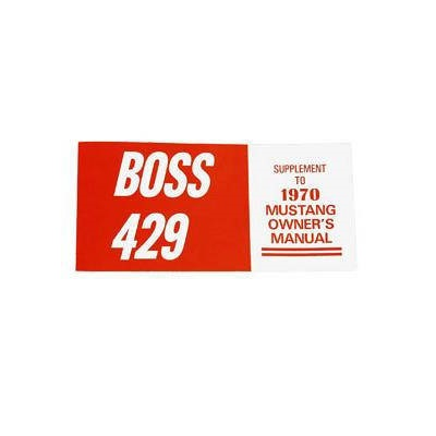 1970 Boss 429 Owners Manual
