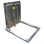 Existing Opening Diamond Tread Floor Door, Steel, 300psf