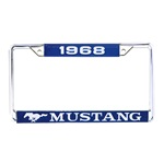 1968 Mustang Year Dated License Plate Frame
