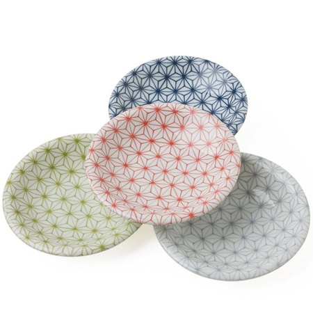 "Asanoha Colors 4.75"" Dish Set"
