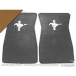 Embroidered Carpet Floor Mats (Saddle)