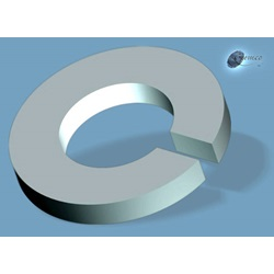 "1/4"" Lock Washer, Split, .260"" ID X .487"" OD X .062"" Thick, 300 Series Stainless Steel"