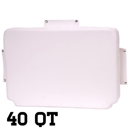White 40 Quart Seat Cushion