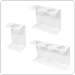 32oz Natural Oblong Dispenser Brackets, White