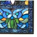 "36""H Victorian Stained Glass Fleur De Lis Window Panel"