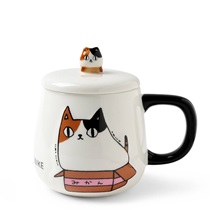 Cat Pals 10 oz. Mug with Lid Mike