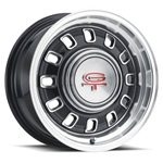 "LW 60 15x7 12 Slot Rim 4x4.5"" Black"