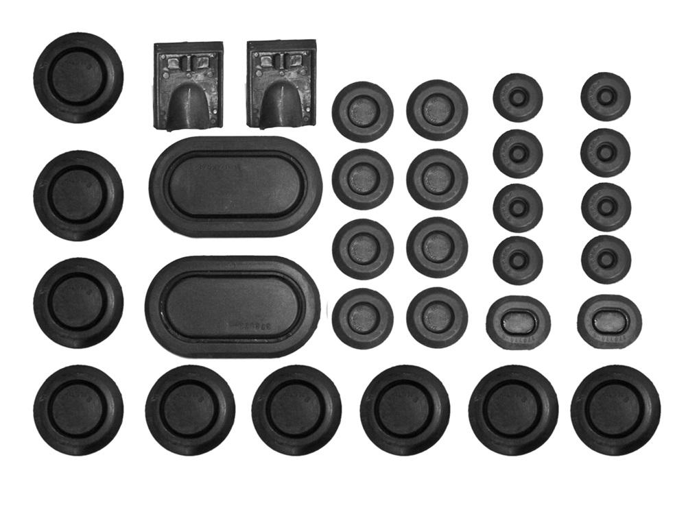 280 x ASSORTED CLOSED BLACK PVC GROMMET CAR WORKSHOP KIT 6mm to 25mm 6 SIZES