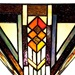 "70""H Stained Glass Mission Style Southwestern Torchiere"