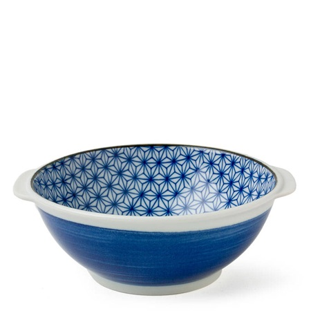 "ASANOHA COLORS 7.25"" SERVING BOWL - BLUE"