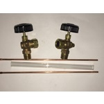 "9-1/4"" Gauge Glass Set, Valves & Rods (steam boilers only)"