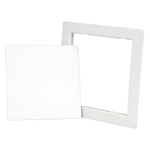 "8"" x 8"" Plastic Access Door with Flange, White"