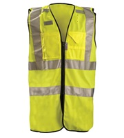High Visibility Premium Solid Dual Stripe Full Surveyor Vests