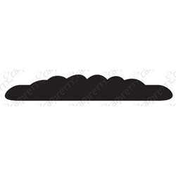 "1 1/8"" X 50' Black Ribbed Body Side Molding"