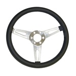 "Corso Feroce 14"" Black Leather Steering Wheel 6 Hole"