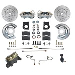 1967-69 Manual Front Disc Brake Conversion Kit with   Drilled and Slotted Rotors