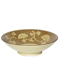 "Sepia Gingko 9.75"" Serving Bowl"