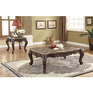 81685 COFFEE TABLE W/MARBLE TOP