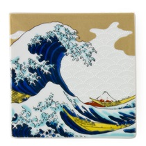 CERAMIC TILE/COASTER - HOKUSAI NAMI