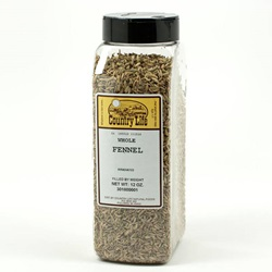 Fennel, Whole (Indian/Light) - 12 oz