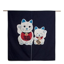 "Noren 33.5""X35"" Manekineko Cat"