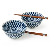 Blue & White Rain Bowl Set