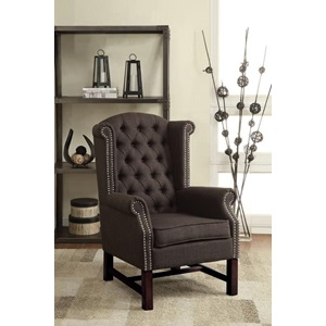 59311 GRAY ACCENT CHAIR