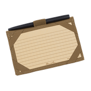 INDEX CARD WALLET KIT - Tan