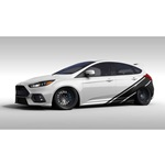 Rally Stripe Sedan Graphics (satin black)