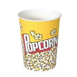32 OZ POPCORN CONTAINER, GREASE RESISTANT, DOUBLE COATED, 500/CS