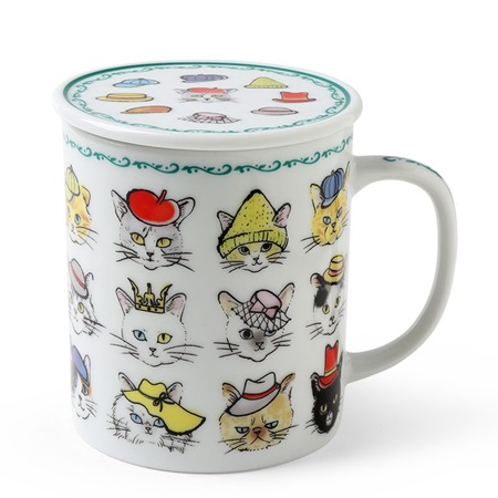 Cats in Hats Mug with Lid