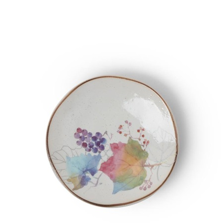 Floral Mini Plate Rainbow Leaves