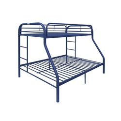 02052BU BLUE TWIN/QUEEN BUNK BED