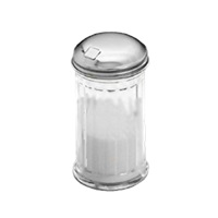 American Metalcraft SAN316 Sugar Complete Plastic Fluted Shaker