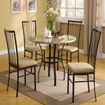 "70295 36""DIA WH 5PC PACK DINING SET"