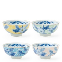"Blue Flower 4.5"" Rice Bowl Set"