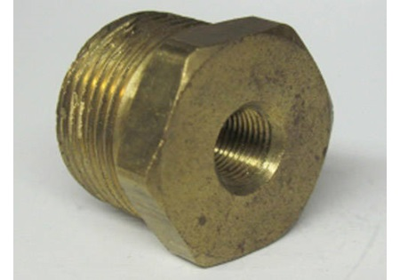 "Brass 3/4"" MPT x 1/8"" FPT Reducer Bushing"