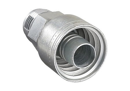 "1-1/16"" X 3/4"" Crimp Hose Fitting With JIC Connection 