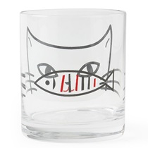 Cat 10 Oz. Glass Cup