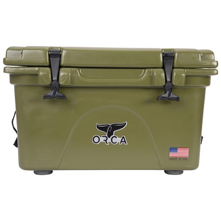 Orca Green 26 Quart Cooler - Front
