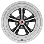 15 x 7 Legendary GT9 Alloy Wheel, 5 on 4.5 BP, 4.25 BS, Charcoal / Machined