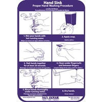 San Jamar Hand Washing Station Smart Chart