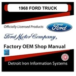 1968 Ford Truck & Van Factory Shop Manual, CD