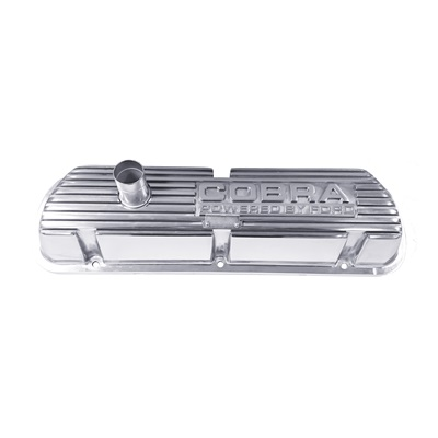 1964-73 Cobra Block Letters Polished Valve Covers