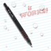 DURABLE STANDARD CLICKER PEN – Red Ink