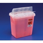 3 Gallon Translucent Red Container -  Locking Horizontal Lid
